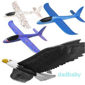 إطلاق يدوي للطائرات المنزلقة الزجاجية الرغوية الزجاجية النسر القرش يطير نموذج التنين الرياضي في الهواء الطلق لعبة للأطفال هدية
