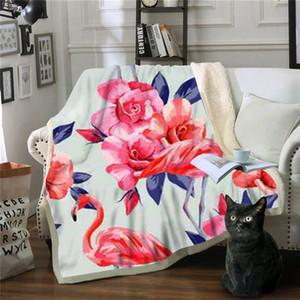 Couverture Fleur Colcha De Cama Casal Jeter Couverture Couverture Polaire Deken Manta Sofá Manta Sommeil Polar Cobertor Drop Shipping
