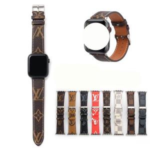 per Cuoio Lettera banda Apple Osservare per Apple Cinturino progettista 38 millimetri 40 millimetri 42 millimetri 44 millimetri cinghie per iWatch 5 4 3 2 cinghia