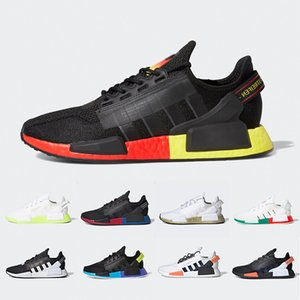 Adidas 2020 Aqua Tones Munich NMD R1 V2 Boost Mens Running shoes Mexico City Gold Metallic Core Black Bright Volt Men Women Sports designer sneakers