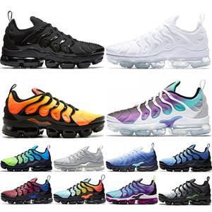 Nike Air Max Vapormax Plus TN Chaussures de course plus Hommes Femmes Hommes Sunset Triple travail Noir Blanc Jeu Formateurs Sport Chaussures de sport Livraison gratuite