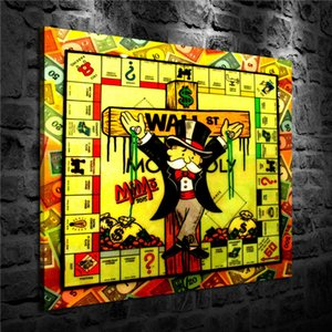 Alec Monopoly Cross,HD Canvas Printing New Home Decoration Art Painting (Unframed Framed)