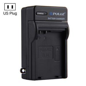 PULUZ US-Stecker-Ladegerät für Nikon EN-EL14 Akku