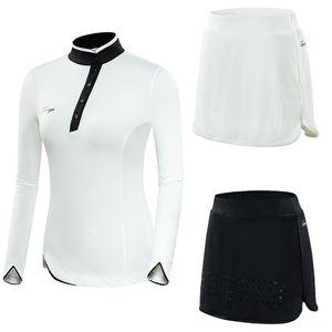 Women Breathable LongSleeved Paddling Water Sports TShirt AntiLight Shorts Skirt Suit Ladies Slim Fit Skirts Sets Sportswear D0984