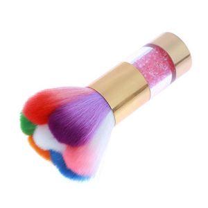 Пыль Портативный Инструмент 11 Art Nail Rhinestone Shop Art Лепестки Ногтей Пластиковые Кисти для Волос Красота DIY Cleanig Цветные Радуга роман