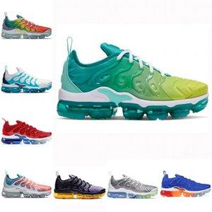 2020 Nike air max Vapormax Tn plus New airmax Tn flyknit Light Blue Sea actual estilista Es cierto voltaje púrpura Triple Negro Marrón noble Tns exterior zapatillas Trainer