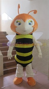 Bee Maskottchen-Kostüm-freies Verschiffen Erwachsene Größe, Wespe Maskottchenklage Plüschspielzeug Karneval Anime-Film klassischen Cartoon-Maskottchen Werksverkauf