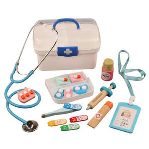 16 قطع الأطفال نتظاهر اللعب طبيب لعبة مجموعة أطفال خشبية محاكاة الطب الطب الصدر مجموعة للأطفال فتاة لعبة التنمية المبكرة