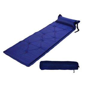 Seif-inflable acampar al aire libre de la comida campestre inflables automáticos dormir de la estera colchón de la estera a prueba de humedad de la playa con la almohadilla
