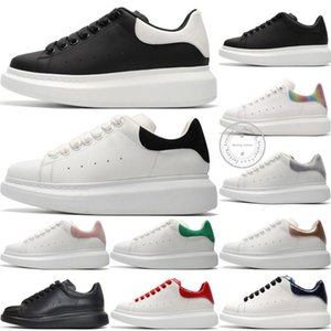 2020 Nouvelle saison Fashion Designer Shoe Luxe Chaussures Femmes homme en cuir lacées extra-grande plateforme unique Sneakers Blanc Noir Chaussures Casual