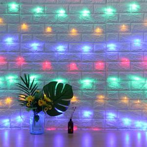 Новогоднее украшение водить Чистый Mesh света строк Главной Сад фон Украсить Декор Fairy Звездного Garland Lamp Свадеб