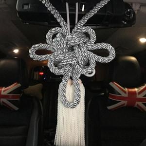 2pcs JP 10E Nouveau Type Chrysanthème Kiku Kintsuna Silvery Junction blanc Produire Kiku Knot Pour Charms Miroir voiture