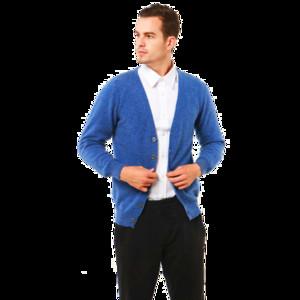 Longming 100% Merino Wool Sweater Men V-Neck Cardigan Inverno manga comprida Cashmere agasalho quente Jumper