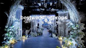 جديد وصول حفل زفاف الممر الديكور الثريا سلسلة ل قاعة الزفاف المرحلة الزفاف وخارج باب الديكور best0594