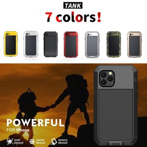 Full Protective Shockproof armor phone Case For iphonePhone 11 Pro XS MAX XR X 7 8 6 6S Plus 5S 5 SE 2020 Metal Aluminum Bumper Cover