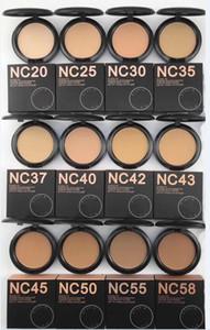 New Hot alta qualidade maquiagem nc 12 cores studiu CORRECÇÃO Pó puffs 15g fundação! DHL livre shippingNEW maquiagem quente de alta qualidade nc 12 cores S