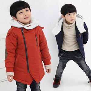 Outono Meninos de Inverno Casacos com capuz de algodão-acolchoado Casual Crianças grossos casacos para meninos 3-12Y Criança Adolescentes Crianças Casacos