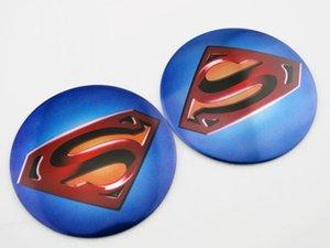 Autocollants en aluminium de moto de réservoir de carburant d'insigne de corps d'autocollant en aluminium de voiture de Superman