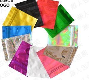 6x9cm (2.25x3.5in) 7 cores Glossy selo de calor da folha de alumínio Mylar Mini Ziplock sacos lisos Bloqueio Saco Para Herb Jewel Packing