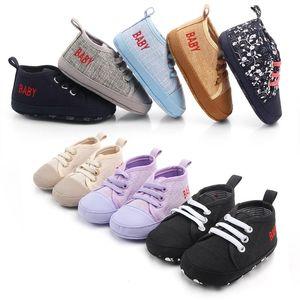 Bebé recém-nascido menina primeiro Walkers sapatos macios Sole Anti-derrapante bebê sapatos infantis criança das sapatas de lona respirável durável Sneakers BC BH1414