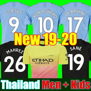 19 20 soccer jersey city 2019 2020 G. JESUS MAHREZ DE BRUYNE KUN AGUERO football shirt MENDY kids uniforms away manchester men + kids kit