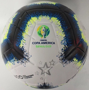 2019 Copa America футбольный мяч Final KYIV PU размер 5 шариков гранулы скольжению футбол Бесплатная доставка мяч высокого качества