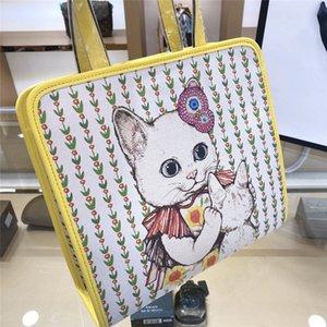 Frauen Luxury Designer-Handtasche Blumen Katzen-Mode-Umhängetasche Süße Einkaufstaschen CFY20042040