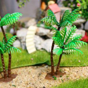 Mini Coconut Tree en plastique vert Simulation Faux arbre pour Aquarium Terrarium