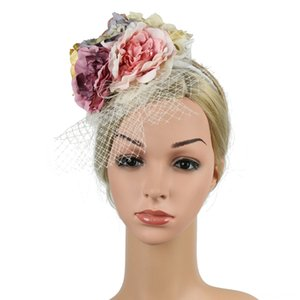 New Fashion Fascinator Hat Ladys Day Feather Ascot Race Hair Clip Hats & Caps Hats, Scarves & Gloves Wedding Party Accessories Fedoras
