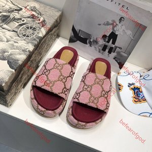 Gucci slippers pour 2020 hommes et femmes sandales chaussures de marque mode d'été de glissement de luxe sandales fond épais hococal fond plat large de shippin libre