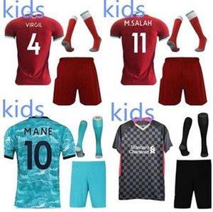 liverpool Bambini ENFANTS kit 2019 2020 di calcio del pullover Maillots de magliette di calcio set uniformi accettiamo il nome e il numero