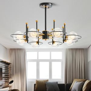 Modern Cam Topu LED Avizeler İçin Oturma odası Cafe LUSTRE plafonnier Minimalist Yatak Odası Avize Aydınlatma lampadario açtı