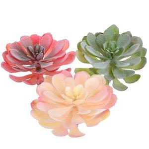 Height = 14 centímetros de diâmetro = 12cm Grandes Instalações de Lotus Artificial Flower Suculentas para jardim de decoração DIY Plants Recados Acessórios