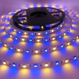 Light LED Strip 5050 SMD RGBW RGBWW Led light 5M 60LEDs m Flexible Neon Tape Non-Waterproof LED Lamp Strip TV Backlight CRESTECH