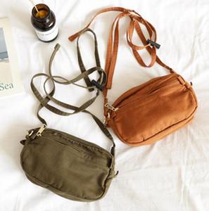 Simple personality canvas waist bag multifunctional shoulder messenger bag wild fashion mini mobile phone