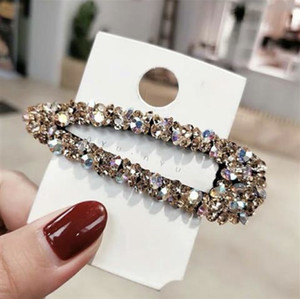Women Elegant Rhinestone Crystal Hairpin Fashionable Dazzling Hair Clip High Quality Hair Accessaries for Ladies and Girls