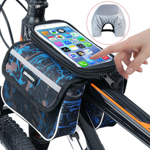 Bike Bag Bicycle Top Tube Borsa Telefono Bike Storage Pouch Impermeabile Touch Screen Telefono Pocket Pocket Accessori per ciclismo Strumenti sportivi