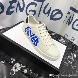 2019 NEW Luxury Дизайнерские мужчины и женщины обувь Супер звезда Роскошная пара кроссовки кожа Индивидуальный Печать Пара Дизайнер обуви