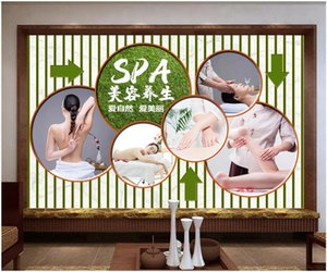 WDBH 3d wallpaer custom photo Tooling for Massage SPA Beauty Health Care Hall background home decor living room wallpaper for walls 3 d