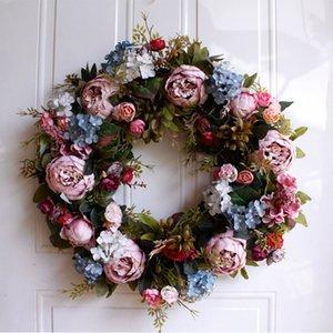Venda A Quente De 22 Polegadas Grinaldas De Flores Artificiais Para A Parede Da Porta Janela De Natal Decoração De Casa De Casamento