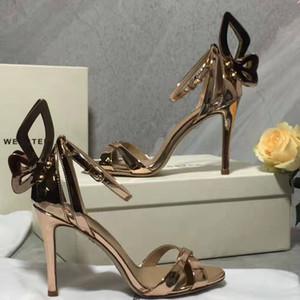 Parfait Officiel Qualité Sophia Webster Femmes Evangeline Sandales En Cuir à Talons En Cuir Véritable Mode Nouvelle Sortie Chaussures À Talons Hauts