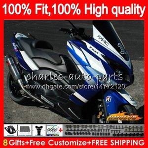 Inyección para YAMAHA TMAX500 azul brillante MAX500 MAX500 T 12 13 14 15 83HC.17 TMAX500 TMAX 500 MAX TMAX500 2012 2013 2014 2015 carenados