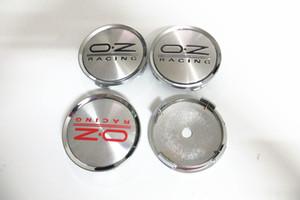 4PCS 75MM الأحمر، الأسود OZ مركز محور العجلة قبعات الشعارات شعار شارة للجولف جيتا MK5 باسات B6 لتصفيف VW سيارة