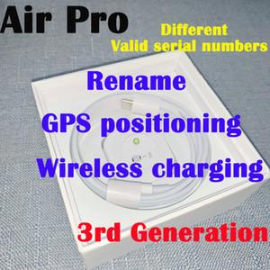 Neueste AP3 pro H1 Chip Wireless-Charging Generation 3 Sensor umbenennen Bluetooth Kopfhörer Auto Pairing-Kopfhörer mit Pop-up windownes