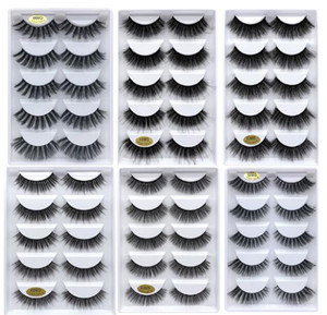 New Arrival mink lashes thick natural long mink 3D hair false eyelashes handmade reusable fake lashes 6 styles available drop shipping