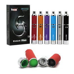 Authentic Yocan Evolve Plus Kit 1100mAh Battery Quartz Dual Coil QDC E Cigarette Kits All 6 Colors In stock