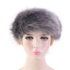 Mulheres Faux Fur Headband criativa Lady Inverno Quente Sólidos Ear Cor Hairband Moda Meninas Warmer regalos partido do presente TTA1920
