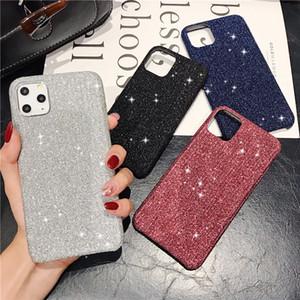 Lüks Doku Bling Glitter Bezi Ultra İnce Yumuşak Case Arka Kapak iPhone 11 Pro Max 2019 XR XS X 6 6S 7 8 Artı