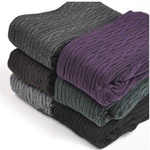 Nuova Primavera Autunno Inverno cotone lavorato a maglia Calze 7 donne di colori caldi Twist a righe Calze 2 progetta Calze Donna