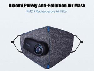 Puramente original de la máscara de la pera de aire fresco con las baterías PM2.5 550mAh recargable filtro Máscara anti-contaminación con ventilador para el hombre Mujeres